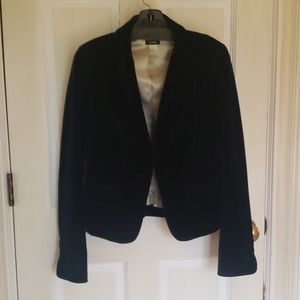 J. CREW blue velvet blazer